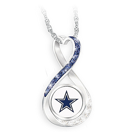 Dallas Cowboys Forever Infinity Pendant Necklace