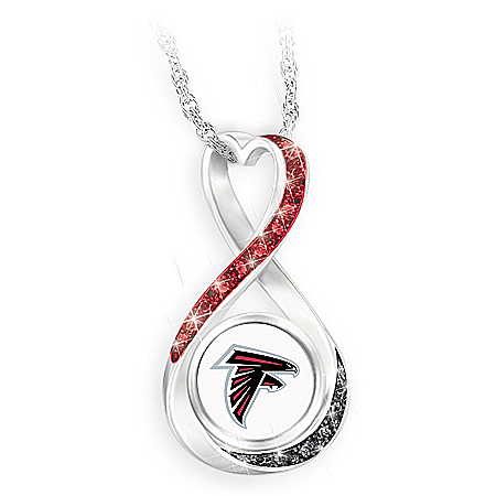 Atlanta Falcons Forever Infinity Pendant Necklace
