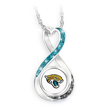 Jacksonville Jaguars Forever Infinity Pendant Necklace