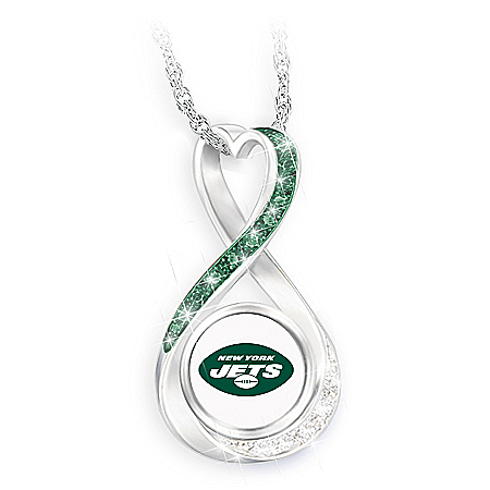 New York Jets Forever Infinity Pendant Necklace