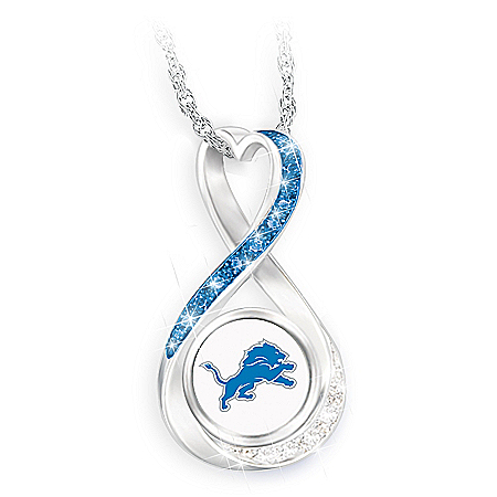 Detroit Lions Forever Infinity Pendant Necklace