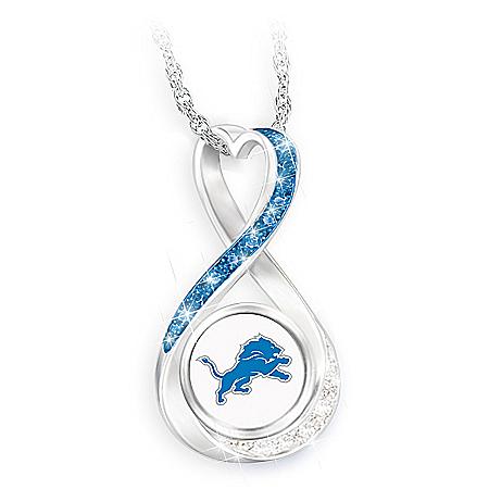 Detroit Lions Forever Infinity Pendant Necklace