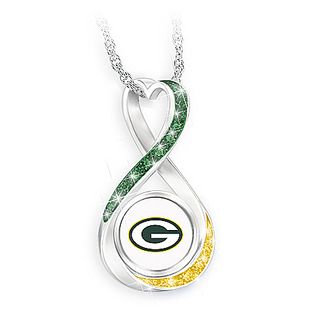 Green Bay Packers Forever Infinity Pendant Necklace