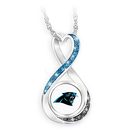 Carolina Panthers Forever Infinity Pendant Necklace