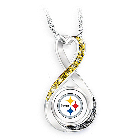Pittsburgh Steelers Forever Infinity Pendant Necklace
