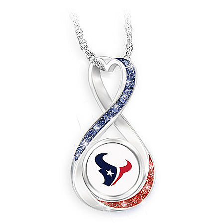 Houston Texans Forever Infinity Pendant Necklace