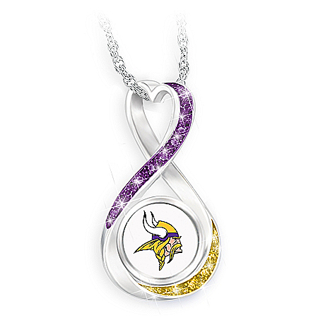 Minnesota Vikings Forever Infinity Pendant Necklace