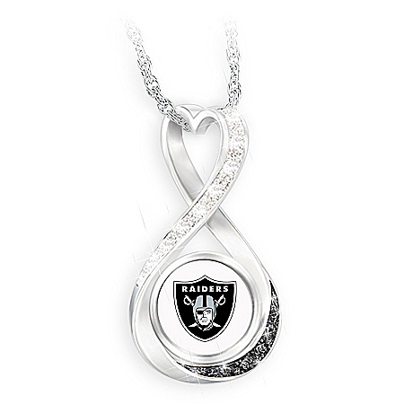 Raiders Forever Infinity Pendant Necklace