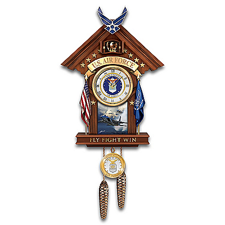 United States Air Force Aim High Cuckoo Clock by The Bradford Exchange Online - Lovely Exchange