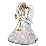 Silent Night Illuminated Musical Angel Sculpture