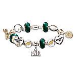 Go Philadelphia Eagles! #1 Fan Super Bowl Women's NFL Charm Bracelet
