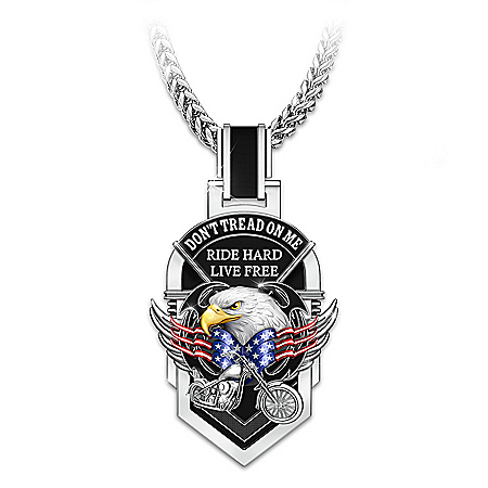 Don't Tread On Me Stainless Steel Motorcycle Dog Tag