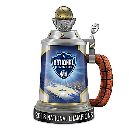 Villanova Wildcats 2018 NCAA Men's Basketball National Champions Stein by The Bradford Exchange Online - Lovely Exchange