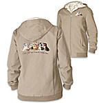 Jurgen Scholz Kitten Love Women's Cat-Themed Reversible Jacket