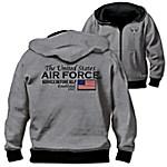 Reversible Military U.S. Air Force Men's Front Zip Hoodie