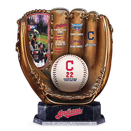 Cleveland Indians MLB Cold-Cast Bronze Glove Sculpture by The Bradford Exchange Online - Lovely Exchange