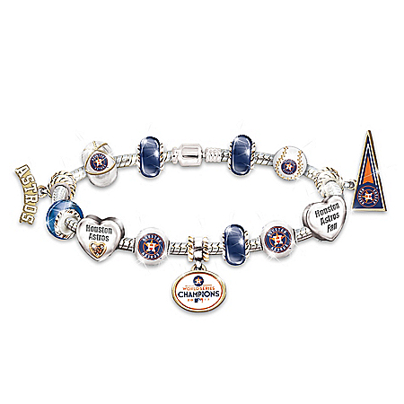 Go Houston Astros! 2017 MLB World Series Champions Charm Bracelet