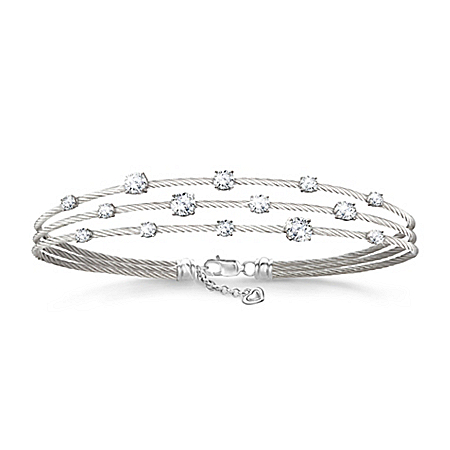Starry Night Diamonesk Women's Twisted Cable Bracelet