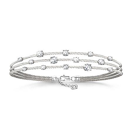 Starry Night Diamonesk Women's Twisted Cable Bracelet