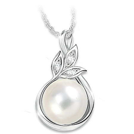 Heirloom Cultured Freshwater Pearl And Diamond Necklace