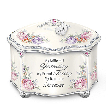 My Daughter Forever Personalized Heirloom Porcelain Music Box