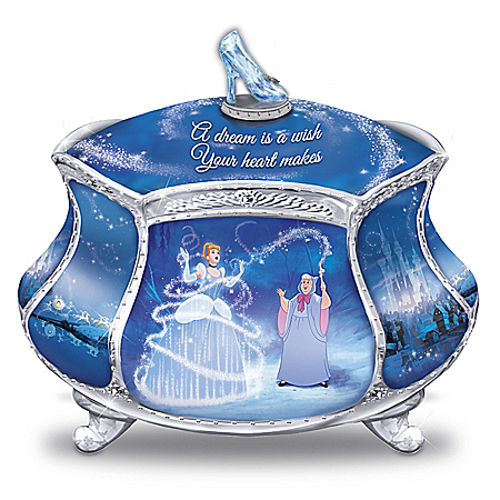 Disney Cinderella's Dream Heirloom Porcelain Music Box