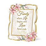 Love Begins With Family Heirloom Porcelain Personalized Frame Wall Decor
