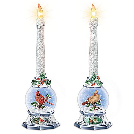 James Hautman Merry Messengers Sculpted Songbird Candle Set