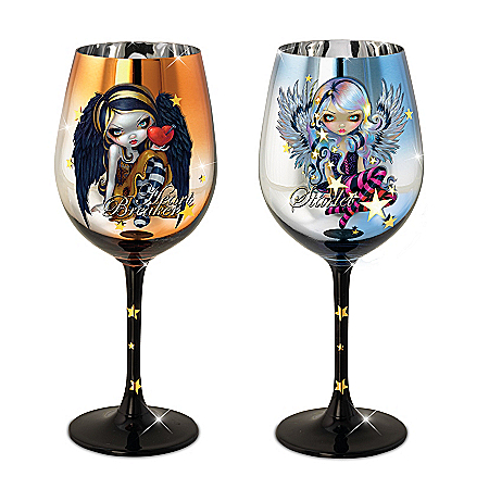 Jasmine Becket-Griffith Heart Breaker And Starlet Fairy Wine Glass Set