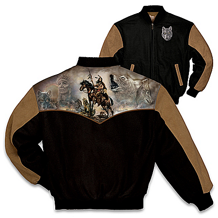 The Wolves Within Men's Two-Tone Twill Jacket