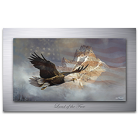 Ted Blaylock Land Of The Free Eagle Metal Print Wall Decor