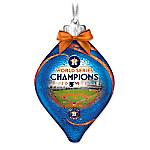 Houston Astros 2017 MLB World Series Champions Illuminated Glass Ornament