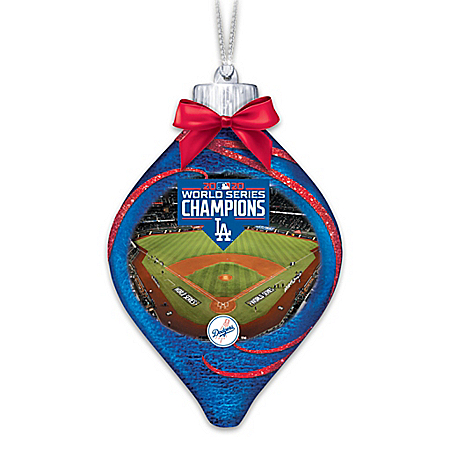 Dodgers 2020 World Series Champions Lighted Ornament