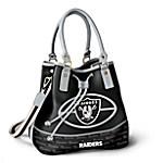 Oakland Raiders Women's NFL Bucket-Style Handbag