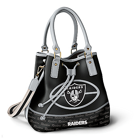 Oakland Raiders Women's NFL Bucket-Style Handbag