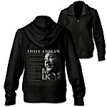 I Have A Dream MLK Women's Front Zip Hoodie