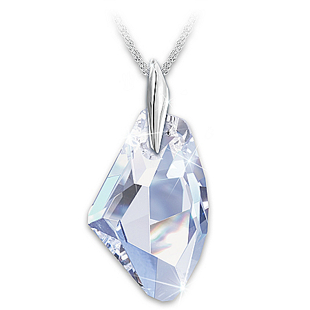 Facets Of A Woman Swarovski Crystal Pendant Necklace