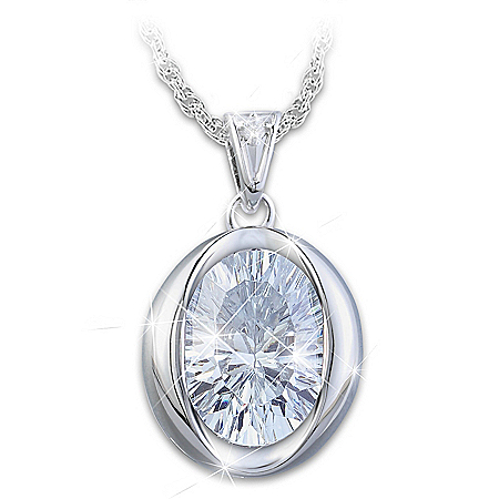 Be You Women's Infinity Cut Crystal Pendant Necklace