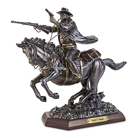 John Wayne: Heroic Charge Cold-Cast Bronze Sculpture