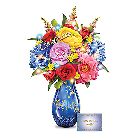 Celebration Lighted Bouquet With Personalized Card