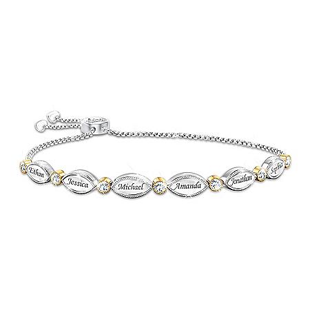 My Beloved Family Women's Personalized Topaz Bolo-Style Bracelet – Personalized Jewelry
