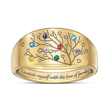 Love Of Family Women's Personalized Birthstone Ring – Personalized Jewelry
