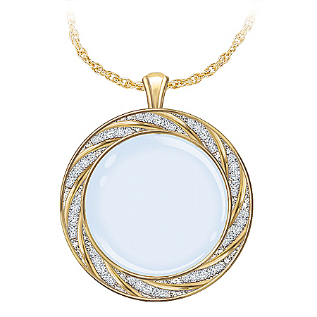 Visions Of Beauty Magnifying Glass Pendant Necklace Set