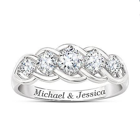 Love Of A Lifetime Women's Personalized Anniversary Ring – Personalized Jewelry