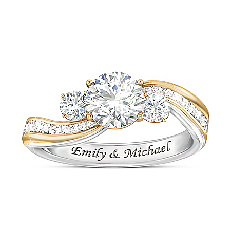 The Story Of Us Women's Personalized Diamonesk Ring – Personalized Jewelry