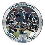 Super Bowl LII Champions Philadelphia Eagles Heirloom Porcelain NFL Collector Plate