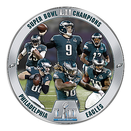 Super Bowl LII Champions Philadelphia Eagles Heirloom Porcelain NFL Collector Plate