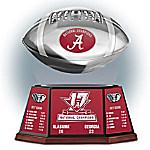 Alabama Crimson Tide 2017 Football National Champions Levitating Football Sculpture