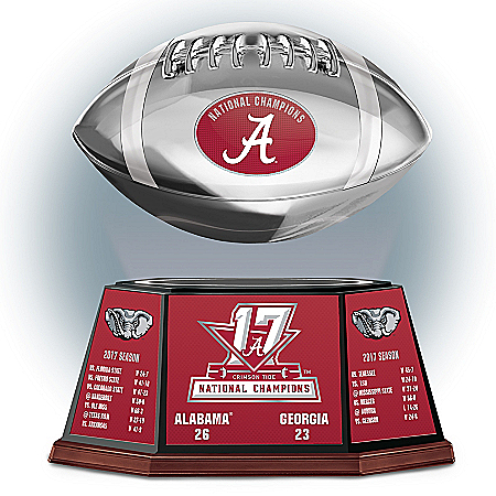 Crimson Tide 2017 National Champions Levitating Football Sculpture: 1 of 10000