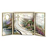 Thomas Kinkade Stairway To Heaven Heirloom Porcelain Shadow Box